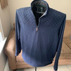 Quilted quarter zip pullover NWOT